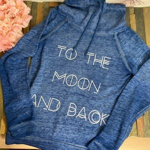 FIFTH SUN Blue To The Moon and Back Sweatshirt